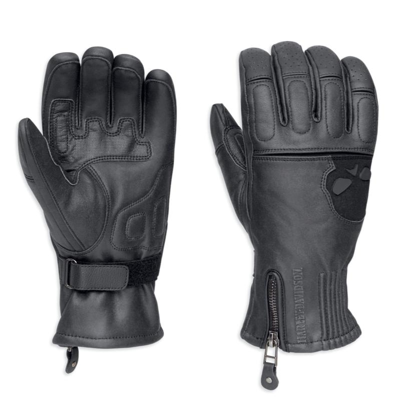 Harley-Davidson® Men's Admiral Under Cuff Gauntlet Gloves - 98226-18VM