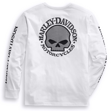 Load image into Gallery viewer, Harley-Davidson® Men's Skull Long Sleeve T-Shirt - White 99092-14VM