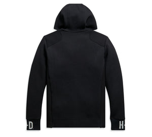 Harley-Davidson® Men's Rib-Knit Side Slim Fit Hoodie - Black