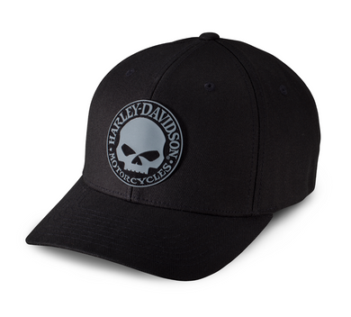 Harley-Davidson® Men's Rubber Skull Patch Stretch Cap - 99409-16VM