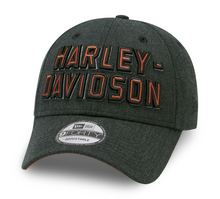 Load image into Gallery viewer, Harley-Davidson® Men's Embroidered Graphic 9FORTY Cap - Heather Black