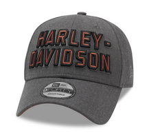 Load image into Gallery viewer, Harley-Davidson® Men's Embroidered Graphic 9FORTY Cap - Heather Grey - 99420-20VM