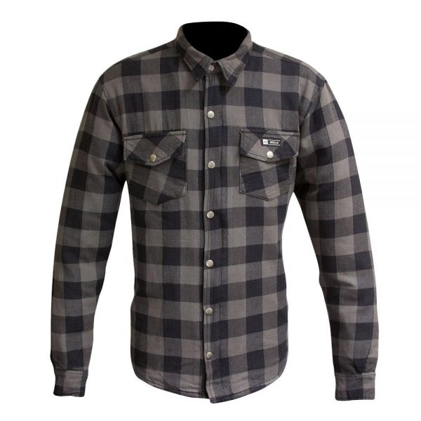 Merlin Axe Zip Up Kevlar® Shirt Jacket - Grey Check
