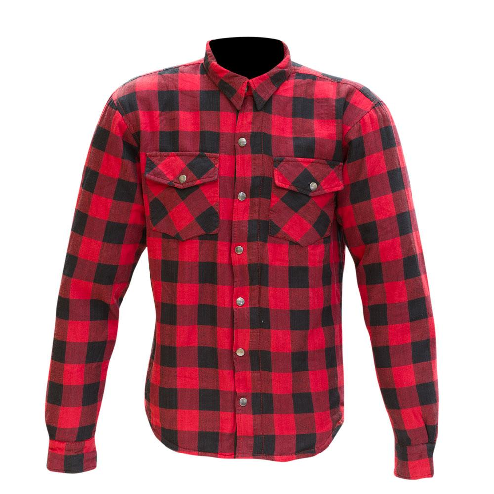 Merlin Axe Zip Up Kevlar® Shirt Jacket - Red Check