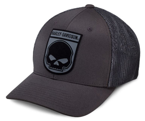 Harley-Davidson® Men's Rubber Skull Patch Stretch Trucker Cap - 99410-16VM