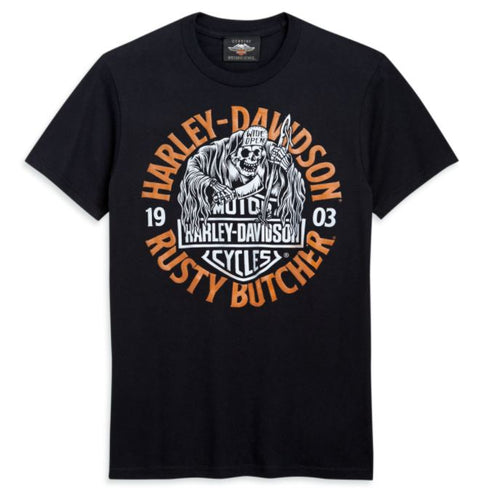 Harley-Davidson® Men's HD x Rusty Butcher Wide Open Short Sleeve T-Shirt - 96484-20VM.