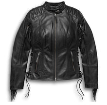 Load image into Gallery viewer, Harley-Davidson® Women's Boone Fringed Leather Jacket