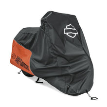 Load image into Gallery viewer, Harley-Davidson® Indoor/Outdoor Motorcycle Cover - Small - ORANGE / BLACK - 93100040.