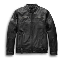 Load image into Gallery viewer, Harley-Davidson® Men's Swingarm 3-in-1 Leather Jacket - Removable Hoodie