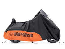 Load image into Gallery viewer, Harley-Davidson® Indoor/Outdoor Motorcycle Cover - ORANGE / BLACK - TOURING - 93100023
