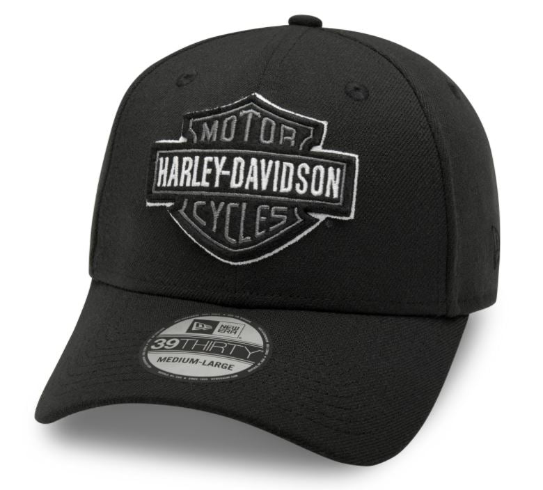 Harley-Davidson® Men's Tonal Logo 39THIRTY Cap - Black - 99421-20VM