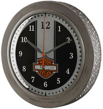 Load image into Gallery viewer, Harley-Davidson® Metal Tire Tread Bar & Shield® Clock - HDX-99176.