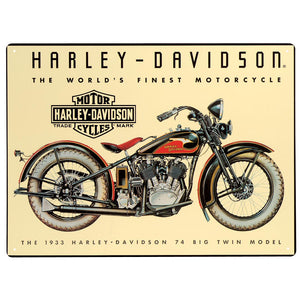 Harley-Davidson® 74 Big Twin Tin Sign - 2010011