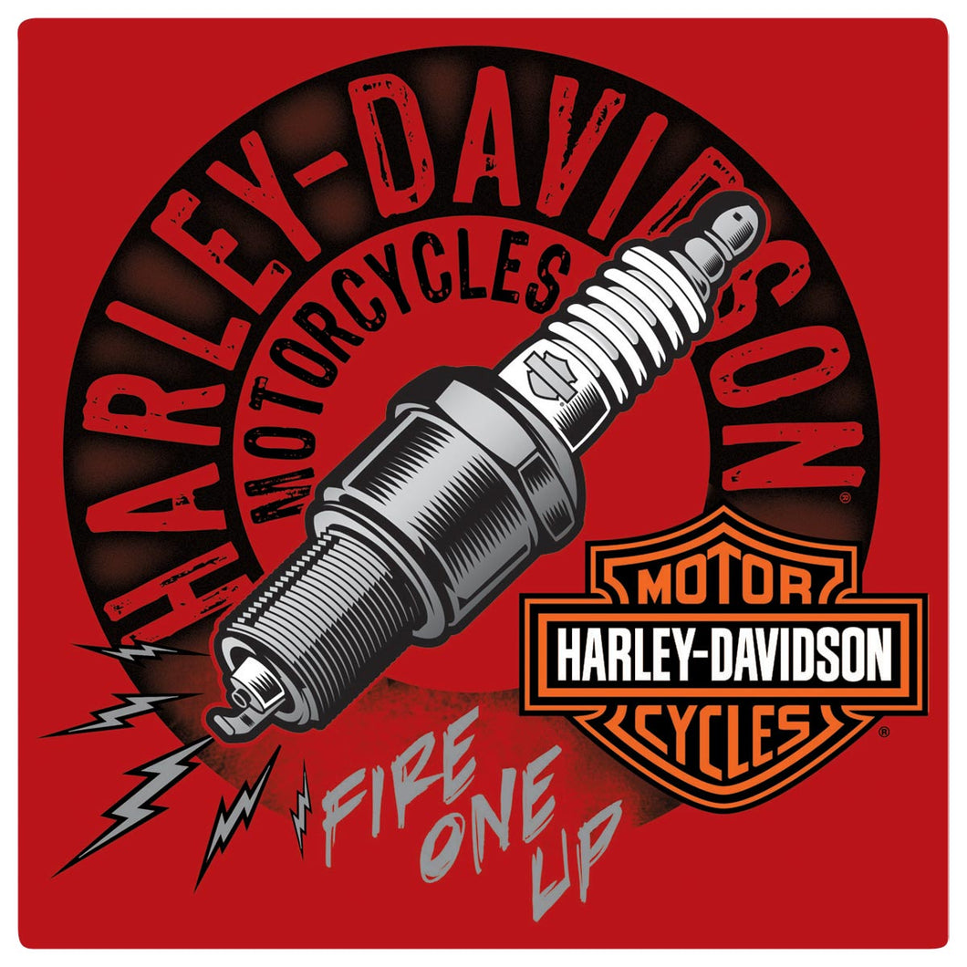 Harley-Davidson® Sparked Tin Sign - 2010871