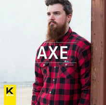 Load image into Gallery viewer, Merlin Axe Zip Up Kevlar® Shirt Jacket - Red Check