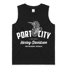 Load image into Gallery viewer, Kids Port City Eagle Wing Tank / Singlet - Black - Sizes 2-6 (NEW)