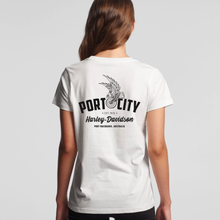 Load image into Gallery viewer, Port City Harley-Davidson® Women's Eagle Wing T-Shirt - Sage Green