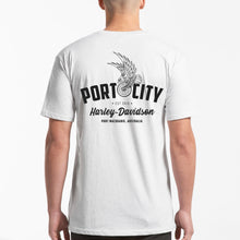 Load image into Gallery viewer, Port City Harley-Davidson Eagle Wing T-Shirt - White