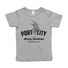 Load image into Gallery viewer, Port City Harley-Davidson® Eagle Wing Baby T-Shirt - GREY (NEW)