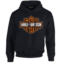 Load image into Gallery viewer, Port City Harley-Davidson Bar & Shield Pullover Hoodie - Black - 30293965A