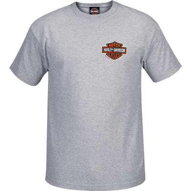 Port City Harley-Davidson Bar & Shield Blended T  Classic Fit  Heather Grey
