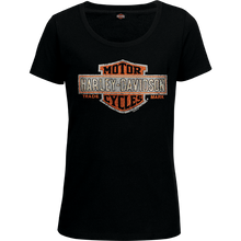 Load image into Gallery viewer, Port City Harley-Davidson  Women's Multiply SL T-Shirt - Orange  Embellishment: Stones