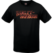 Load image into Gallery viewer, Port City Harley Davidson  Blazing SL Tee - Black  Classic Fit