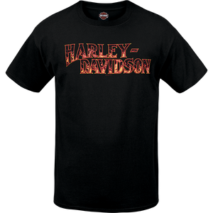 Port City Harley Davidson  Blazing SL Tee - Black  Classic Fit
