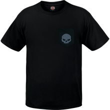 Load image into Gallery viewer, Port City Harley Davidson  G Pocket SL Tee - Black  Features the classic Willie G Skull  Classic Fit