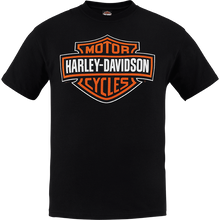 Load image into Gallery viewer, Port City Harley Davidson Bar & Shield T-Shirt - Black