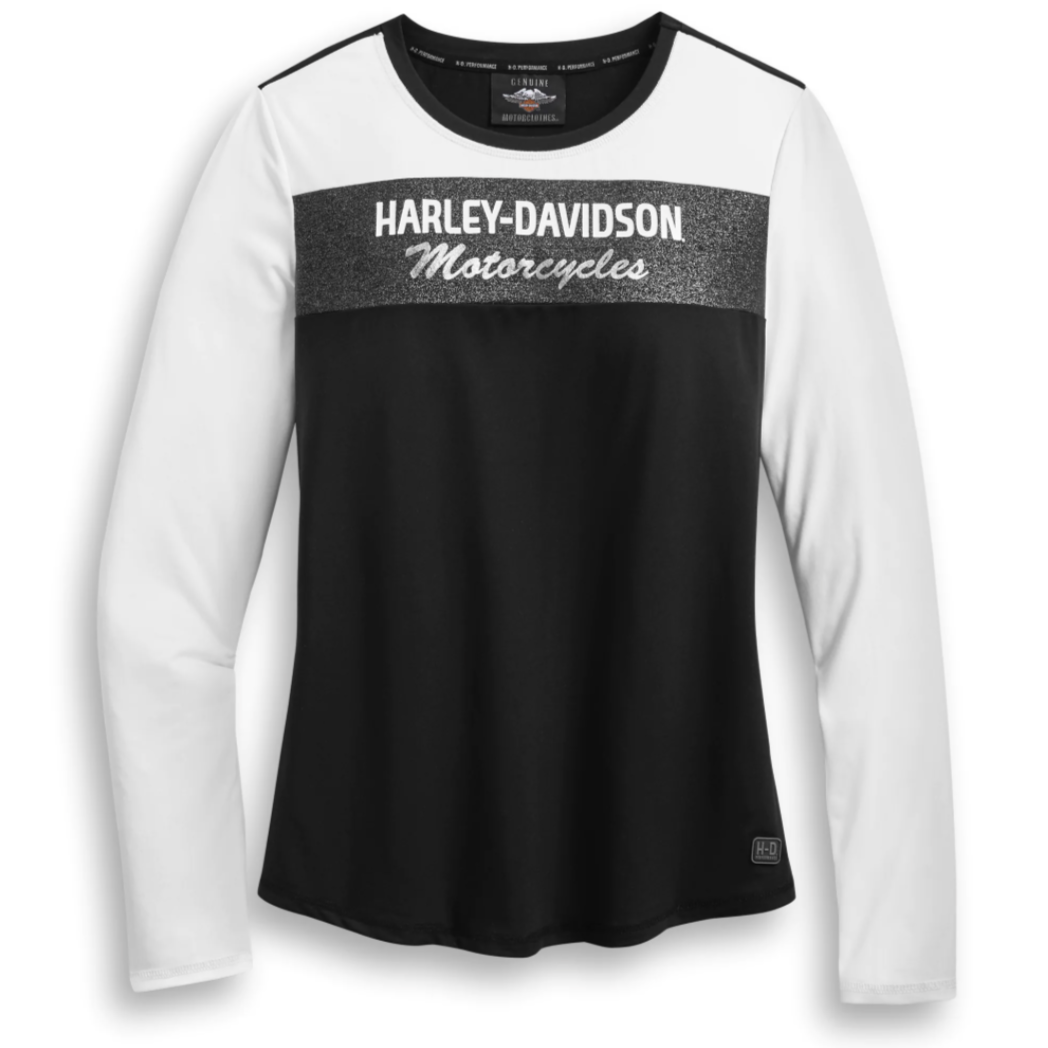 Harley-Davidson® Women's Performance Colourblock Long Sleeve T-Shirt. 96087-20VW.