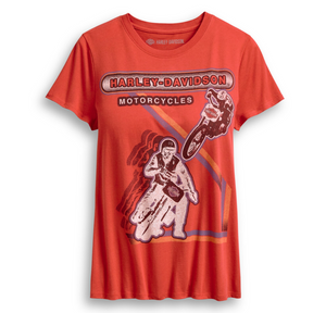 Harley-Davidson® Women's Retro Racing T-Shirt. 96261-20VW.