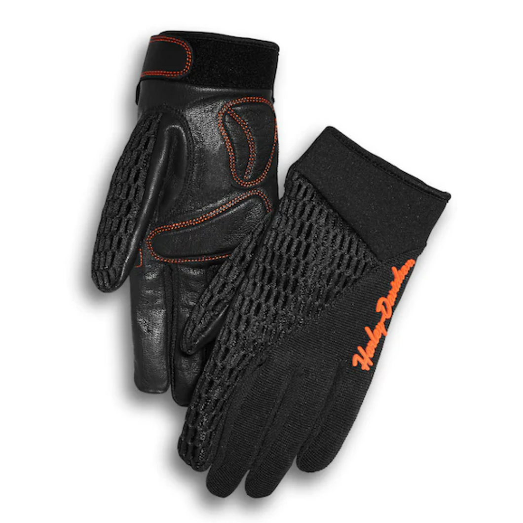 Harley-Davidson®  Women's Osminda Mesh & Leather Summer Gloves - 98247-18VW.