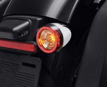 Load image into Gallery viewer, Harley-Davidson® Rear Signature LED Turn Signal Indicator Inserts - '14-Later DYNA / SPORTSTER / TOURING / '14-'17 SOFTAIL - 67801151 (CHROME) 67801152 (BLACK)  NEW ARRIVAL