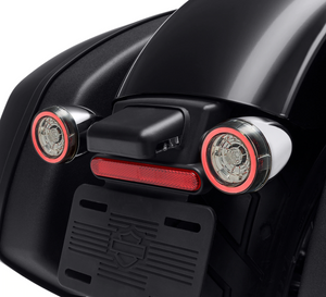 Harley-Davidson® Rear Signature LED Turn Signal Indicator Inserts - '14-Later DYNA / SPORTSTER / TOURING / '14-'17 SOFTAIL - 67801151 (CHROME) 67801152 (BLACK)  NEW ARRIVAL