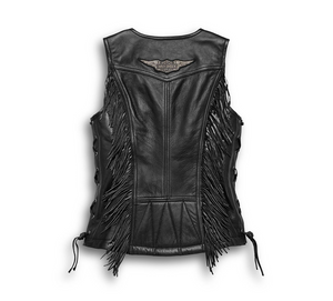 Harley-Davidson® Women's Boone Fringed Leather Vest