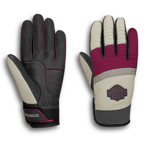 The lightweight mixed-media design offers a comfortable, sure grip with perforations for venting coolness when things heat up. To work against grip fatigue, the ergonomic thumb and pre-curved fingers ensure mobility and dexterity on the Killian Mixed Media Gloves. And for a unified look, these women's motorcycle gloves coordinate with the women's Killian Riding Jacket.