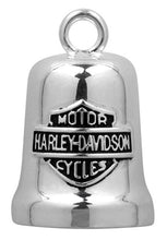 Load image into Gallery viewer, Harley-Davidson® Sculpted Engine Bar & Shield Ride Bell, Silver Finish HRB040