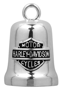 Harley-Davidson® Sculpted Engine Bar & Shield Ride Bell, Silver Finish HRB040