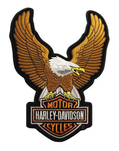 Harley-Davidson® Eagle Winged Large Brown Patch, 7-3/4/'' x 10-1/4'' - EMB328394