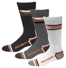 Load image into Gallery viewer, Harley-Davidson® Men's Retro Rider Wicking Socks