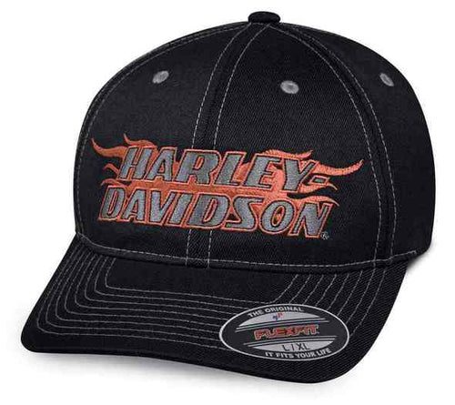 Harley-Davidson® Men's Flame Stretch Fit Cap - 99408-18VM