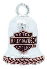 Load image into Gallery viewer, Harley-Davidson® Rose Gold Bar & Shield Hammered Ride Bell, HRB081.