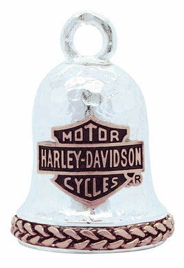 Harley-Davidson® Rose Gold Bar & Shield Hammered Ride Bell, HRB081.