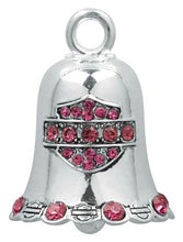 Load image into Gallery viewer, Harley-Davidson® Pink Crystal Bar & Shield Ride Bell HRB019