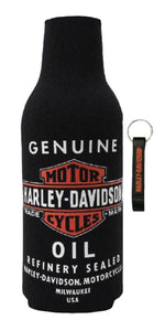 Harley-Davidson® Genuine Oil Zippered Bottle Wrap w/ bottle opener, BZ21230.