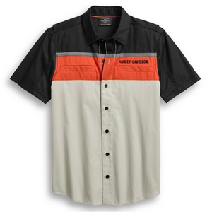 Harley-Davidson® Men's Performance Vented Colourblock Shirt