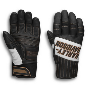 Winter riders are a unique and hearty bunch requiring gear to match the conditions. The Harley-Davidson® Windale Mixed Media Gloves are built to conquer the cold with two secret weapons—windproof construction and thermal reflective lining. These men's motorcycle gloves include bold graphics and contrasting accents to keep you motivated through blustery weather. Power-stretch knuckles offer fatigue-fighting grip while touchscreen fingertip makes swiping to check storm forecasts a snap.