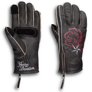 Commit to the journey with gear that keeps you warmer longer. Like the incredible Cant Leather Gloves. Cut from distressed leather with raw seams for a rough-hewn look, these gloves are generously lined with a thick layer of Sherpa fleece. And what you can't see is even more added warmth thanks to the lightweight insulation. Pair these women's motorcycle gloves with the coordinating jacket for more good looks.