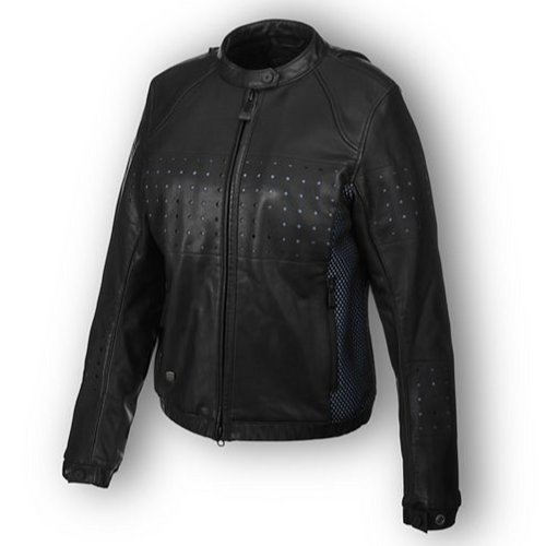 The Nashua Mesh & Perforated Leather Jacket is built with upgraded venting techniques to ensure this gear is ready to keep you comfortable in the hottest conditions. Note the diamond perforations and high-intake 3D mesh for better airflow, vented action back for comfort and cooling, and the Coolcore back armor pocket to wick moisture and offer supreme thermal regulation. Constructed with lightweight performance in mind (even with included armor).